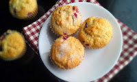 Egg Free Cranberry Cream Cheese Muffins