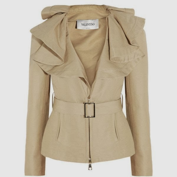 Valentino Cotton and silk-blend twill jacket