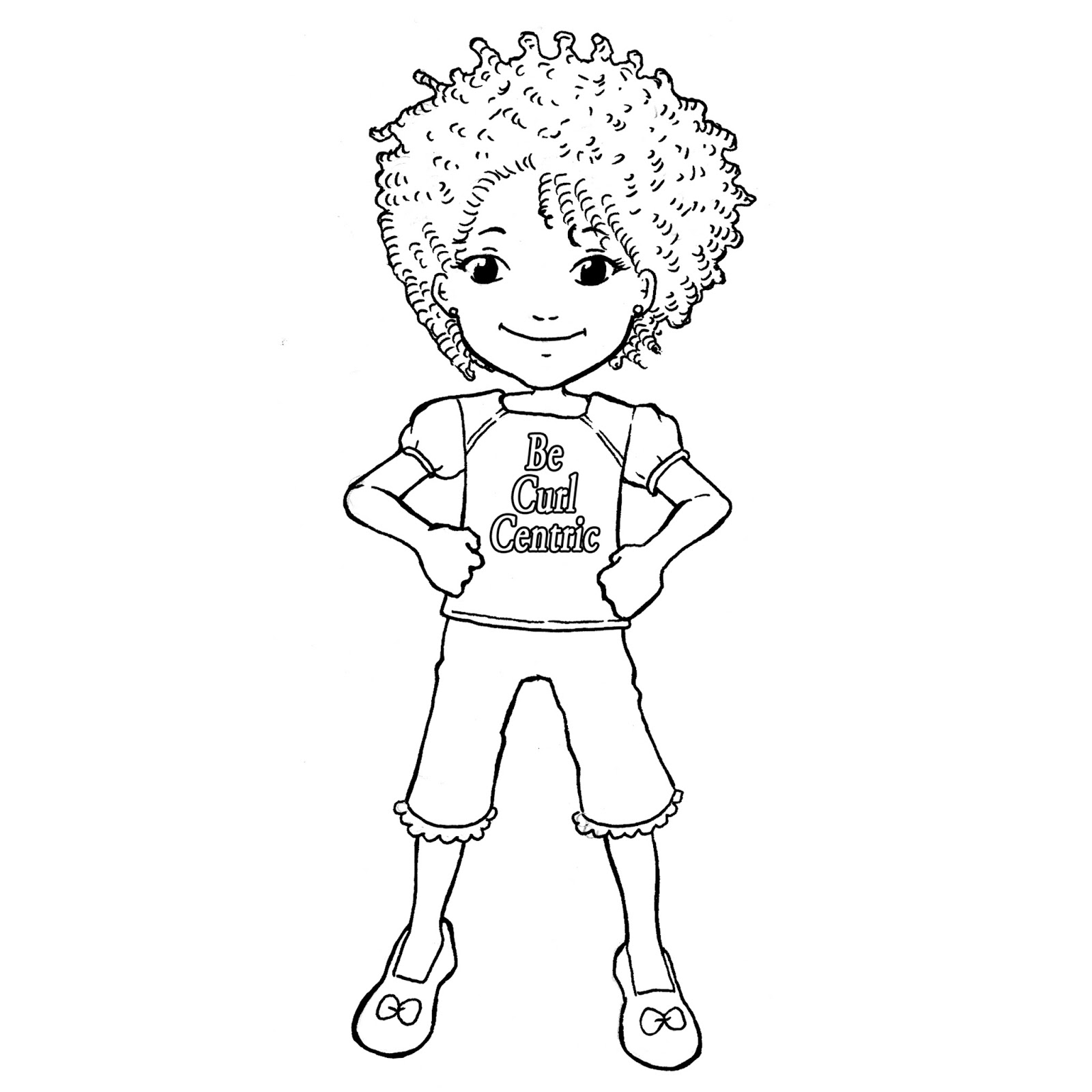 Curl centric presents the 39 curly kids coloring book for Hair coloring pages free