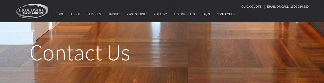 Contact Exclusive Floor Sanding