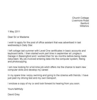 job application letter 10