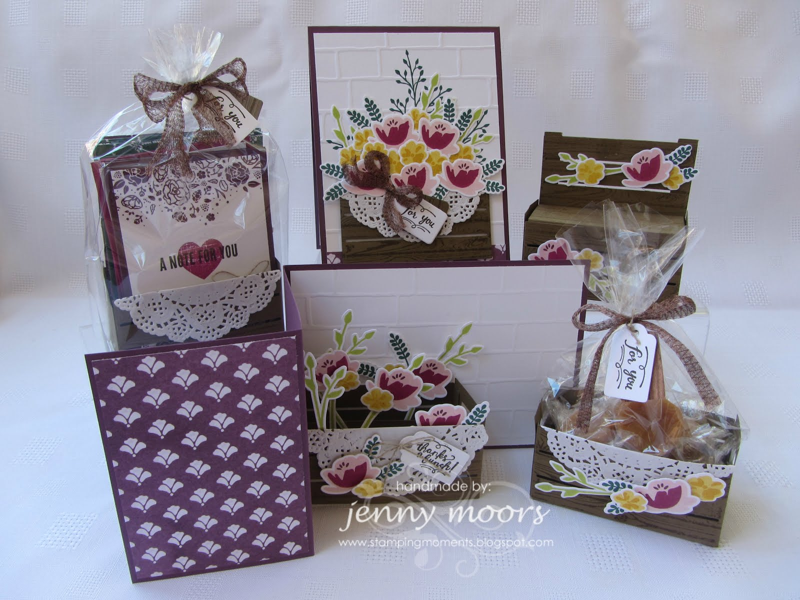Wood Crate Cards & Gift Boxes Stamp Class Instructions