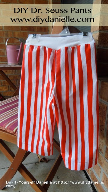 How to make your own pants for Dr. Seuss party