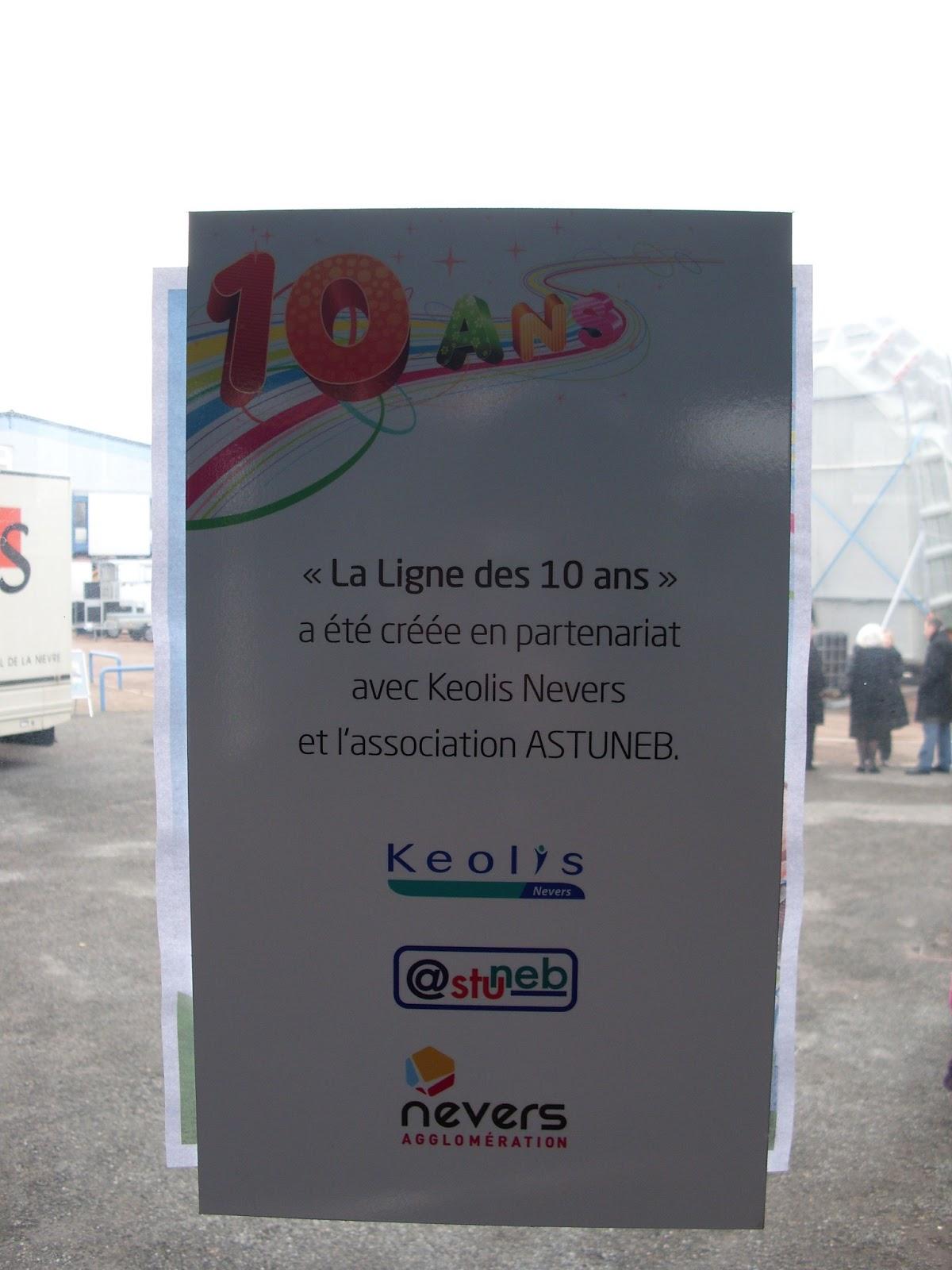 Astuneb inauguration de la la ligne des 10 ans for Foire de nevers