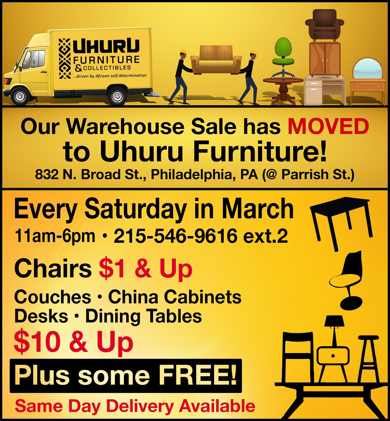 OUR WAREHOUSE SALE HAS MOVED!