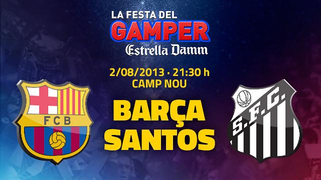 Santos x Barcelona no Troféu Joan Gamper