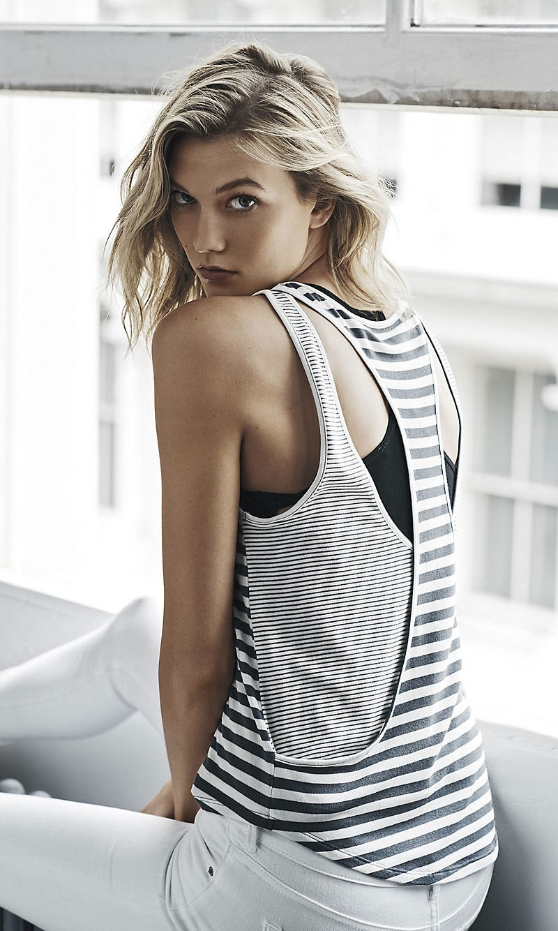 Karlie Kloss shows enviable physique for the Express One Eleven Campaign 2015