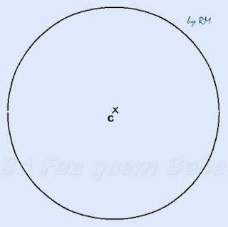 Circunferência para construir um heptágono regular.