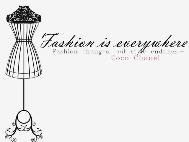 Fashion is everywhere