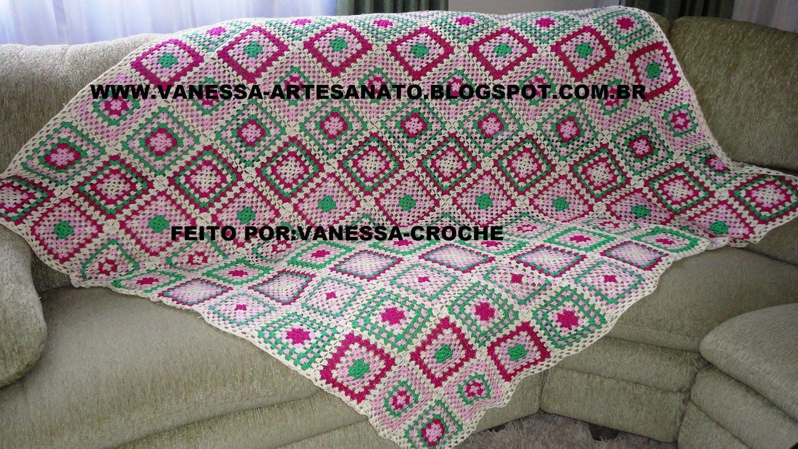Vanessa croch manta de sof de croche - Manta de sofa ...