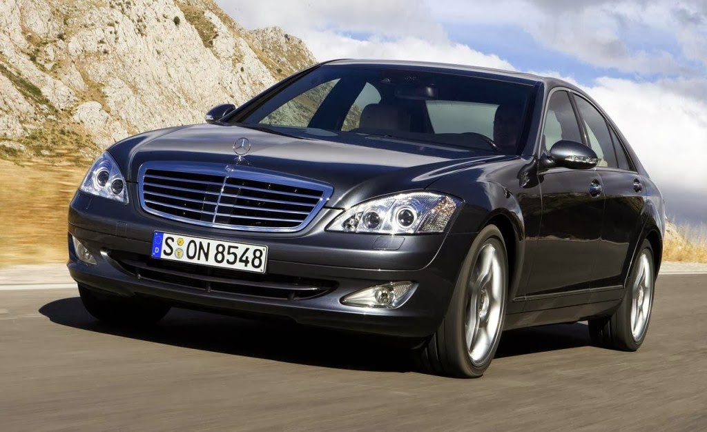 mercedes benz s class 2014 cars in front black colors view - Mercedes Benz 2014 S Class Black