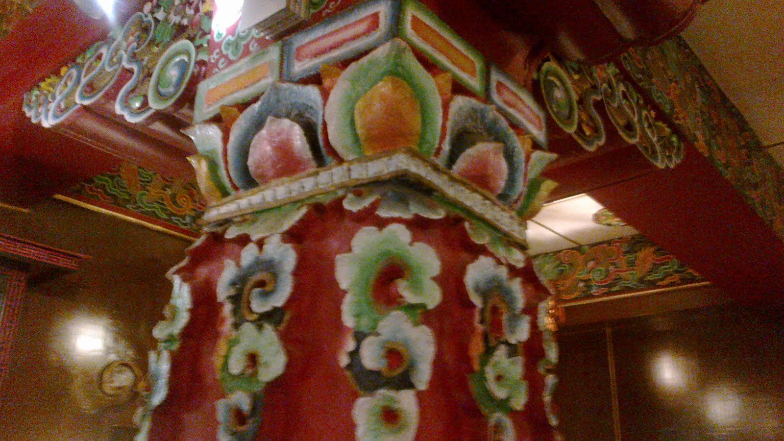 Typical Sikkim Pillar Carving and painting