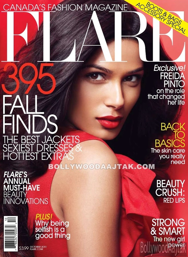 Freida Pinto Flare Magazine October 2011 Photoshoot