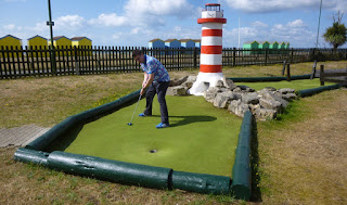 Photo of Crazy Golfer Richard Gottfried minigolfing on the Adventure Golf course in Littlehampton
