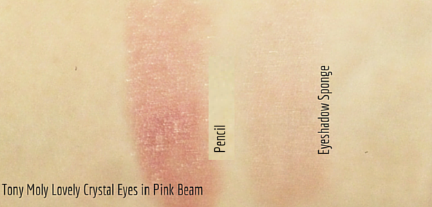 effortless pink monochrome look tony moly lovely crystal eyes pink beam swatch 토니몰리 크리스탈 러브리 애교 아이즈 3 핑크 빔