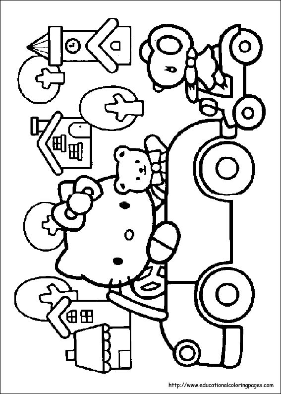 Hello Kitty Turkey Coloring Pages : Free thanksgiving hello kitty coloring pages