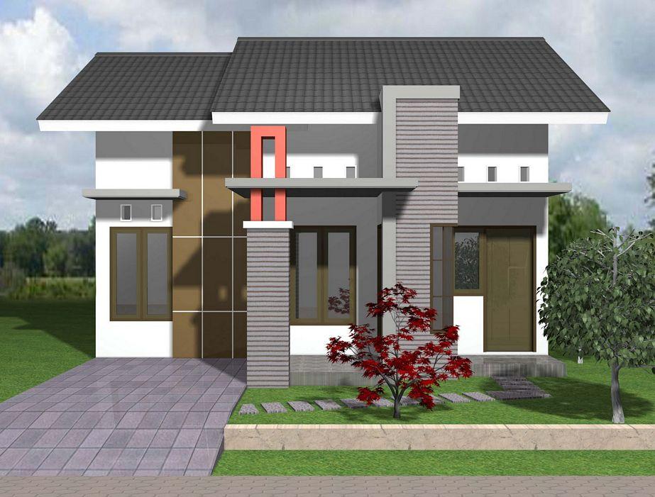 foto sketsa rumah type 45 menarik