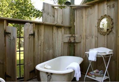 This Is Another One Of Those Cool Old Retro Style Galvanized Tubs Love The Shower Above And Even A Mirror Place To Hang Towel On Tree