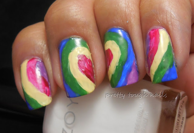 #31DC2013 Rainbow Nails