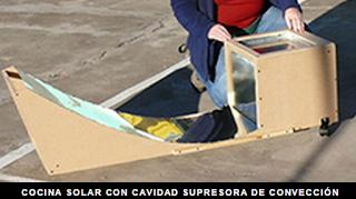 cocina solar con cavidad supresora de conveccion