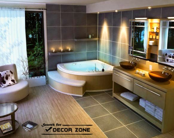 Corner bath designs materials and features - Decore salle de bain 2014 ...