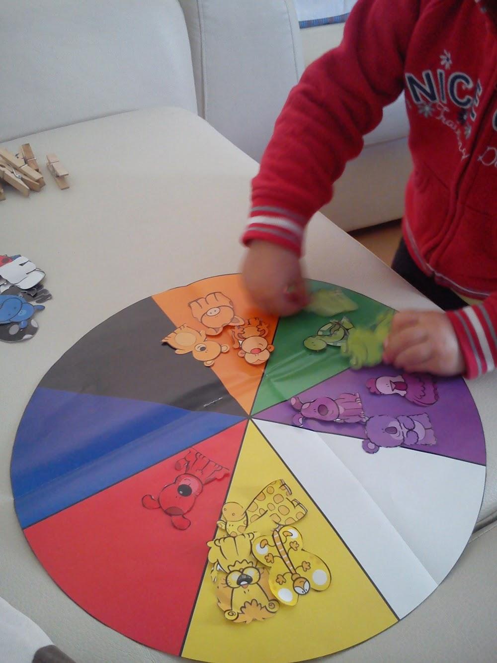 Una princesa guisante juguete rueda de colores y - Rueda de colores ...