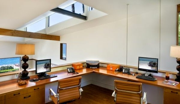 Oficinas para dos en casa colores en casa for Muebles para oficina en casa