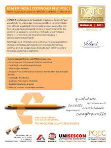 O Velani é certificado pelo PQEC