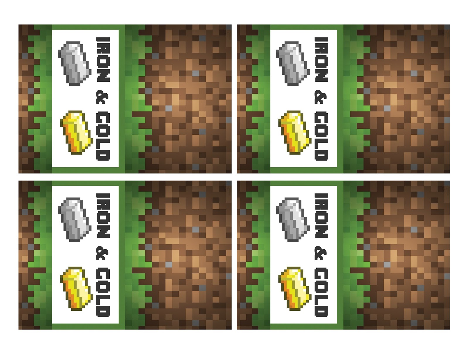 This is a graphic of Effortless Free Printable Minecraft Food Labels