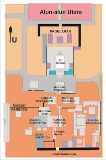 Denah Kawasan Kraton Yogyakarta