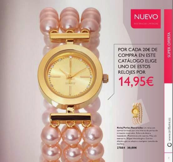 Reloj con Perlas Oriflame C-2 2015