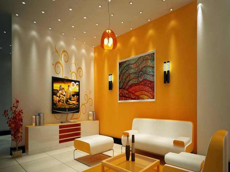 Colors for the living room wall with yellow combination jpg