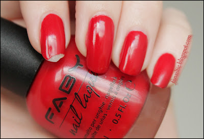FABY's red nach 5 Tagen ohne topcoat