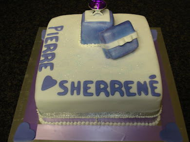 Engagement Cake for Sherrene and Pierre