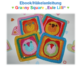 "Ebook Granny Square ""Eule Lilli"" - English version available!"