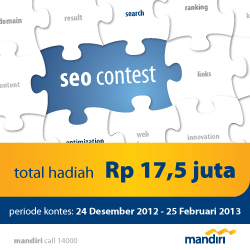 SEO Kontes Bank Mandiri