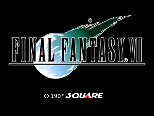 Final Fantasy 7 title screen playstation
