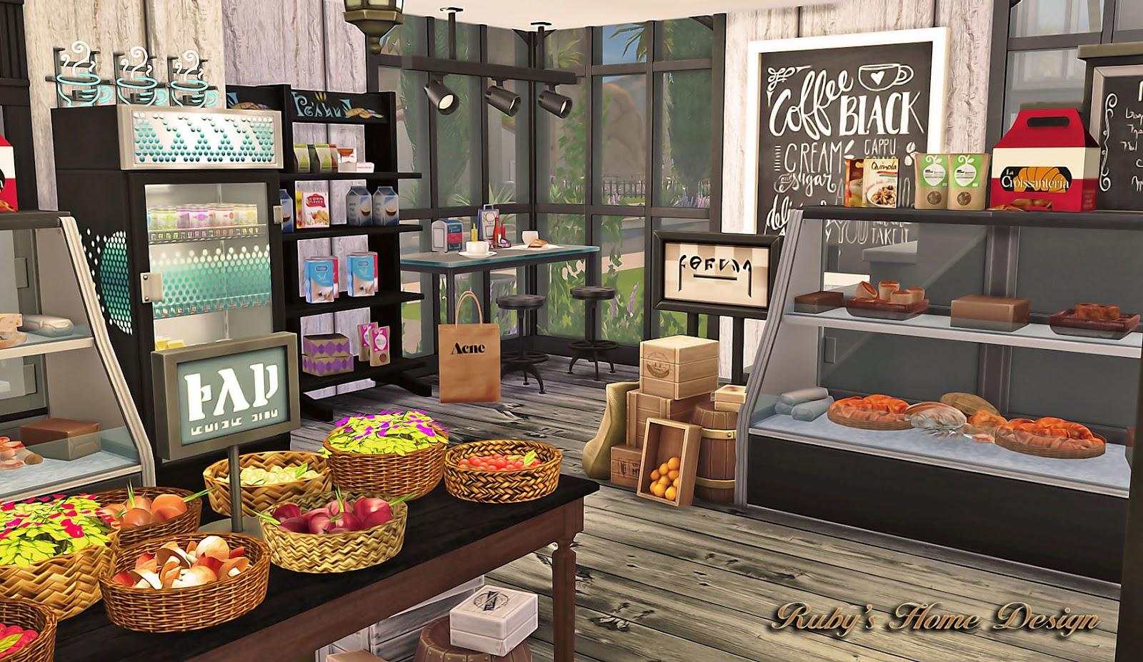 Sims4 Deli amp Grocery Store Rubys Home Design