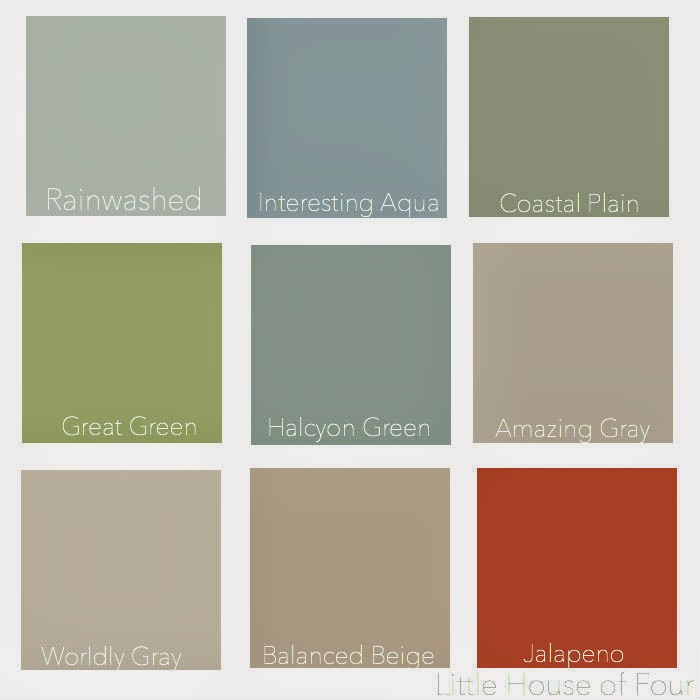 Little House of Four: Paint Colors of My Little House...