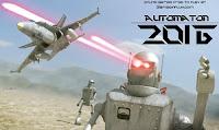 Destrua robôs alienígenas no jogos de Aviao