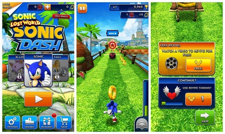 Sonic Dash v2.2.0.Go [Mod Money] APK + DATA screenshot by www.ifub.net