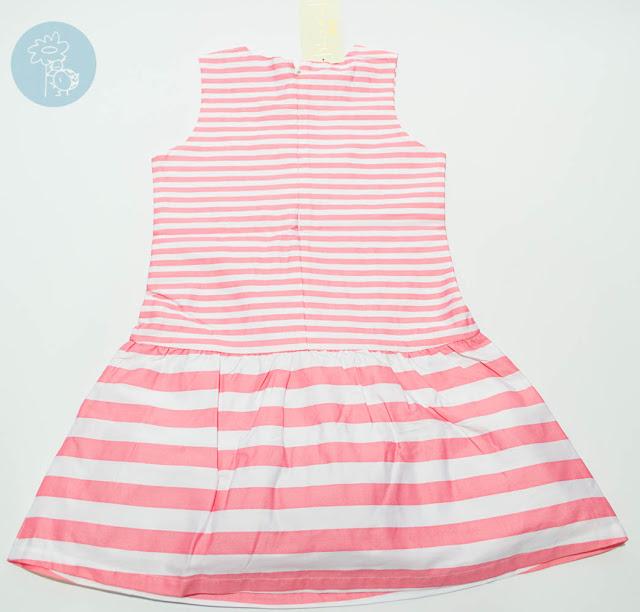 Vestido infantil rayas rosas Bimbalina en Tienda y Blog moda infantil Retamal