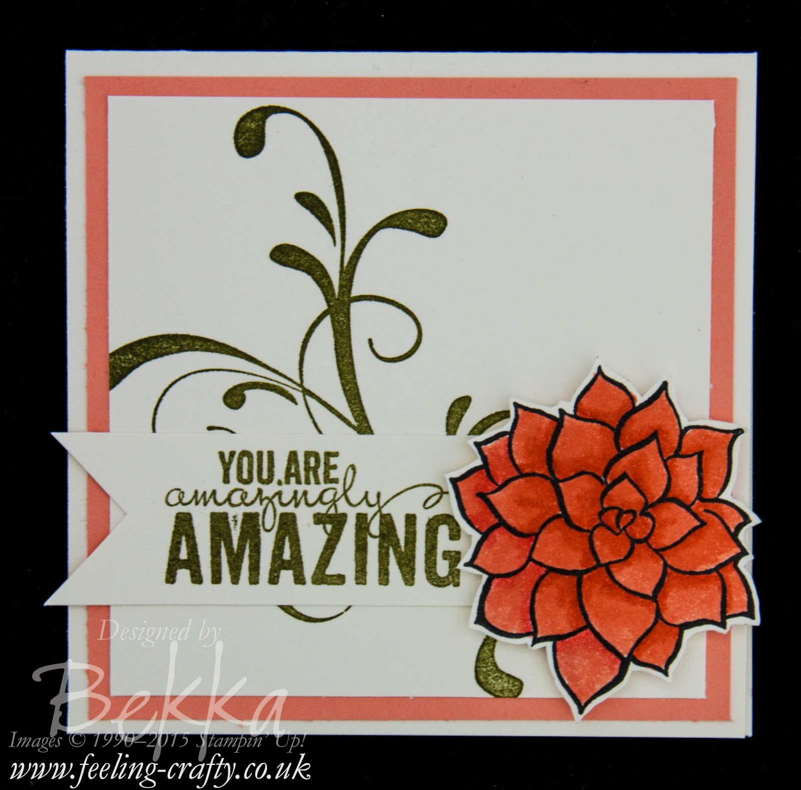 You are Amazing Card and Colouring with Stampin' Write Markers with a video tutorial by Stampin' Up! UK Independent Demonstrator Bekka Prideaux