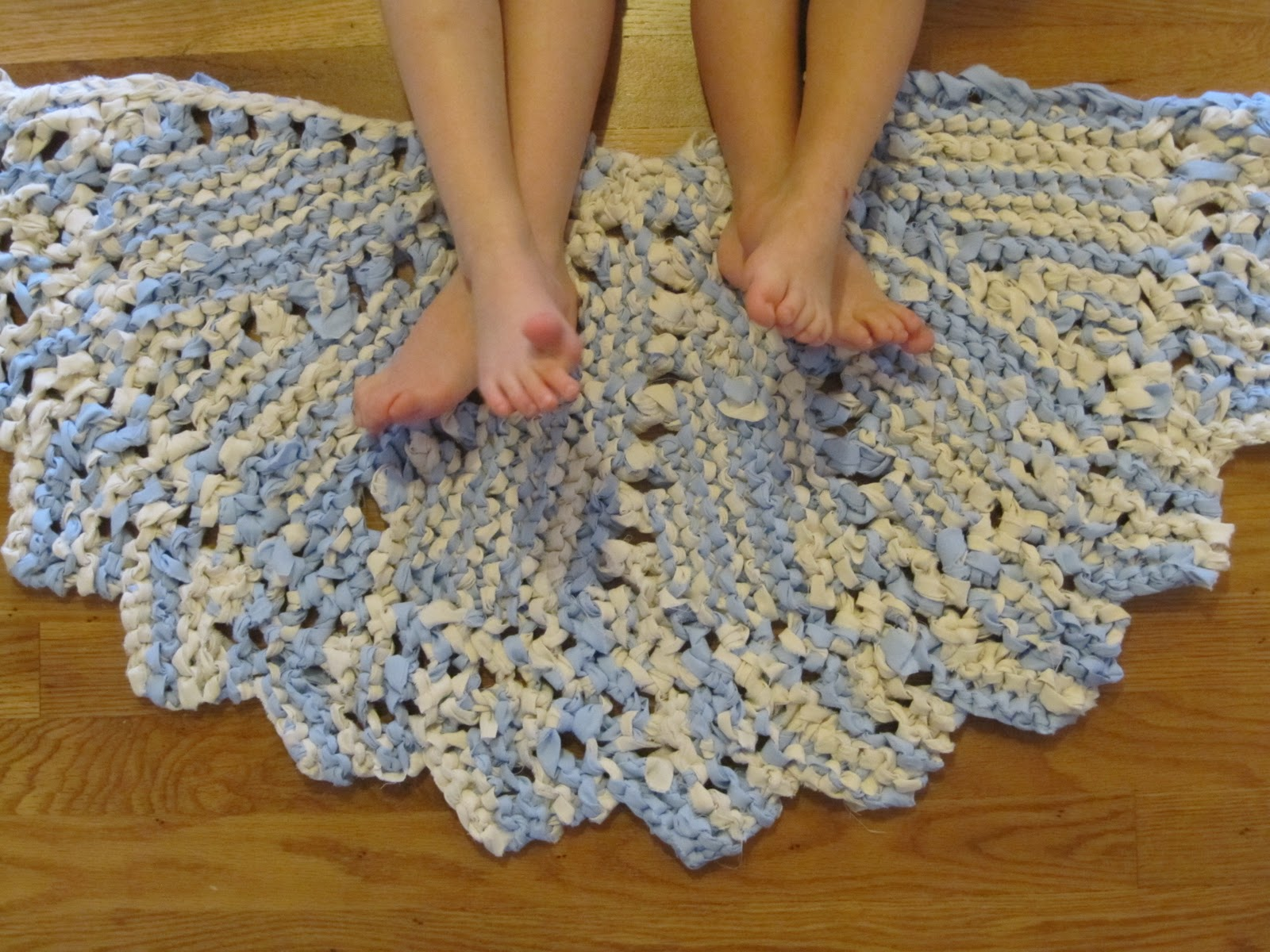 between the toys: Rag Doily Rug