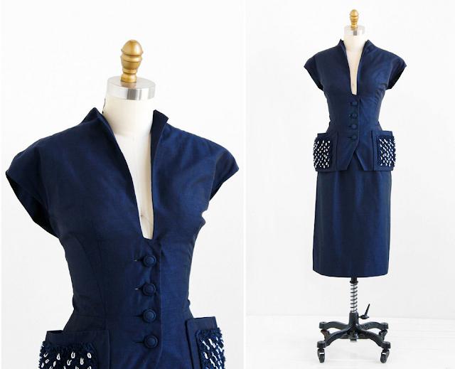 Amazing 1940s Suit #1940s #suit #blue #vintage #40s