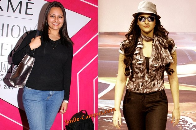 Sonakshi Sinha Before and After Weight Loss
