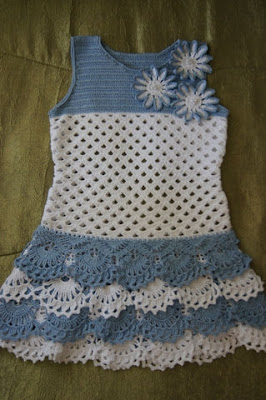 crochet charming girl dress