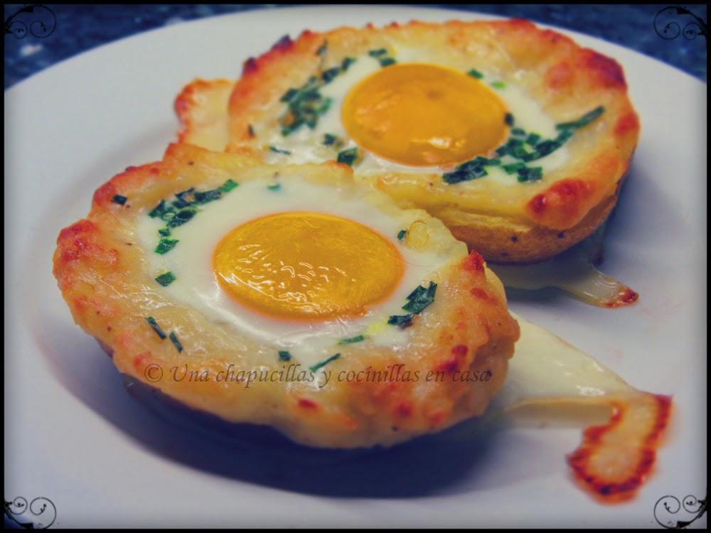 Patatas Asadas Rellenas Con Huevo