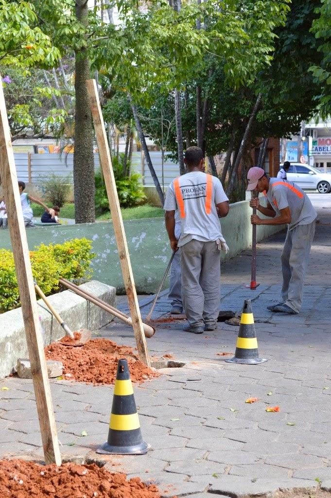 Trabalhos iniciais para a obra de remodelação da Praça Olímpica já tiveram início