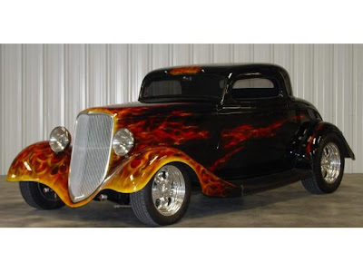 Fire Painting Hot Rod